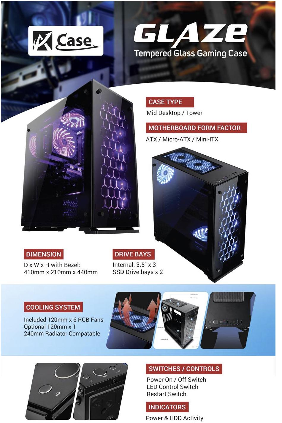 Image result for ACase Glaze RGB Gaming Case