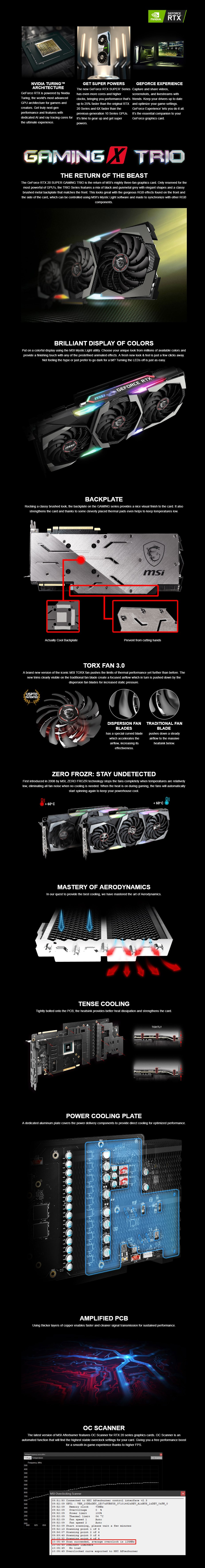 MSI GeForce RTX 2080 Super Gaming X Trio 8GB Video Card - Overview 1