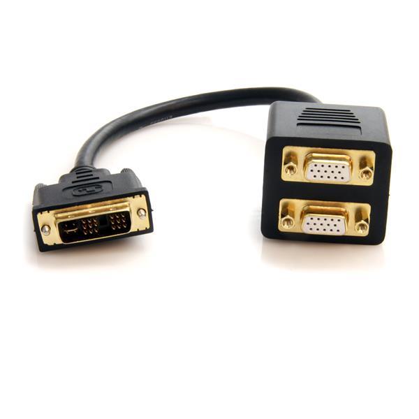 1x DVI-I  to 2x VGA M/F