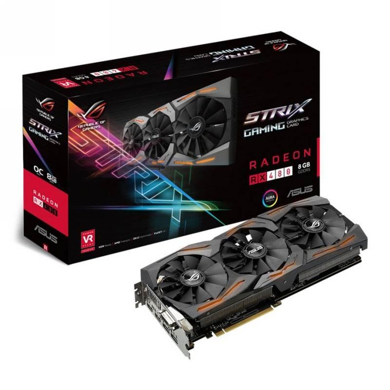 ASUS AMD Radeon RX 480 ROG Strix OC 8GB Video Card